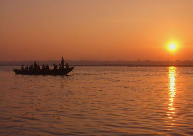 El río Ganges, en la India