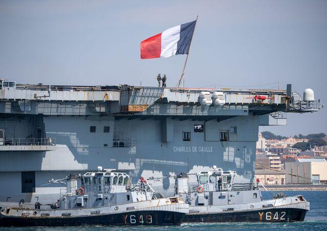 La portaerei Charles De Gaulle