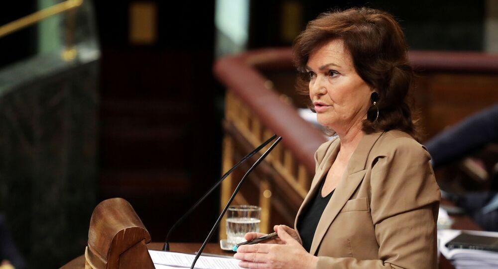 Carmen Calvo, la vicepremier spagnola