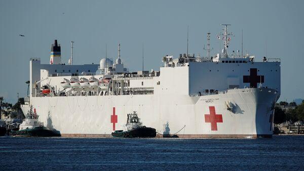 Epidemia di Covid -19 su nave ospedale in California - Sputnik Italia