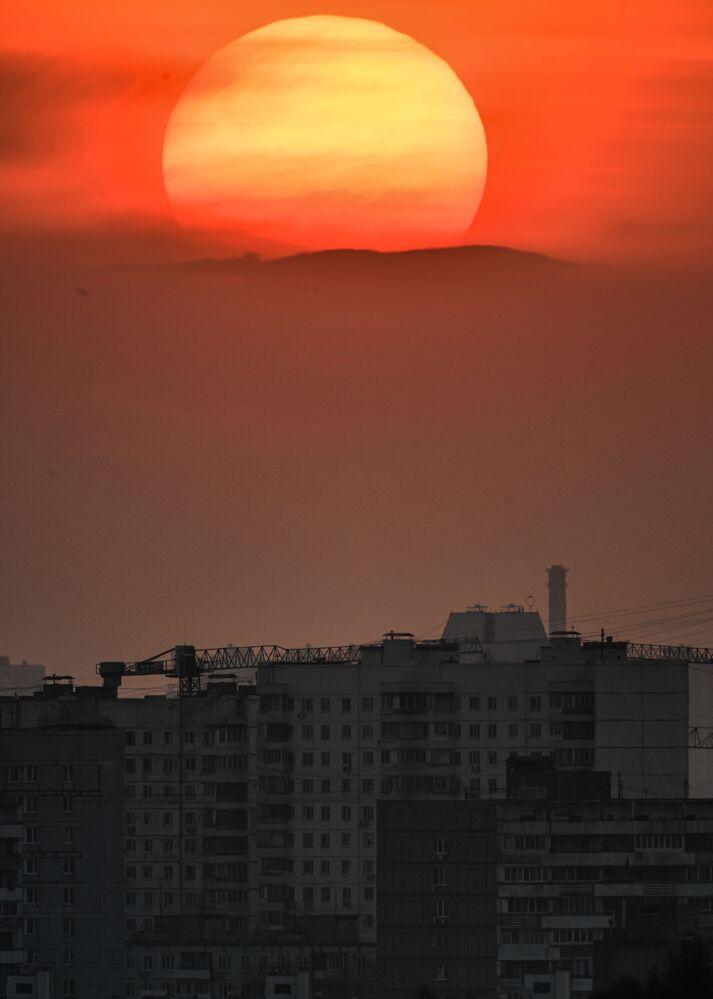 Il tramonto a Mosca