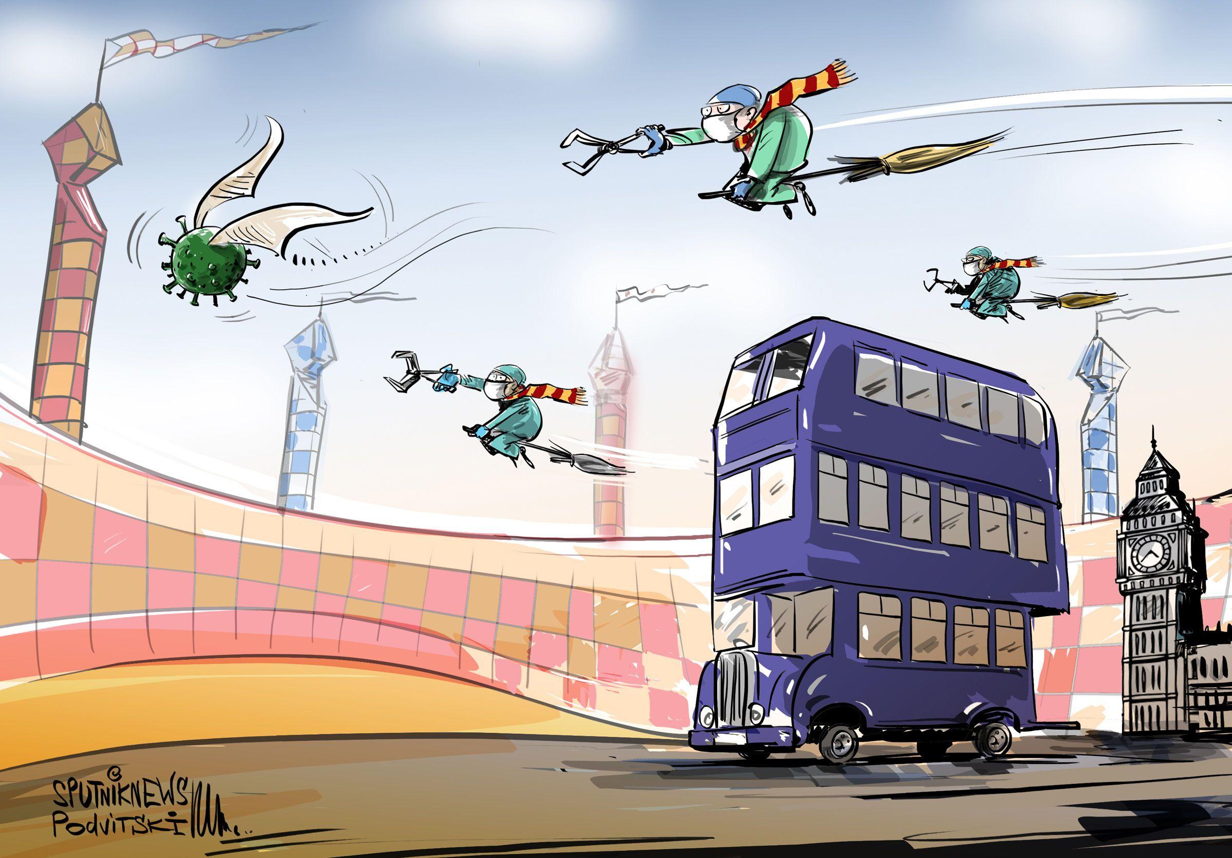 Gli autobus che di solito portano i turisti all'Harry Potter Museum verranno ora usati dai dipendenti del National Health Service of England, Hertfordshire
