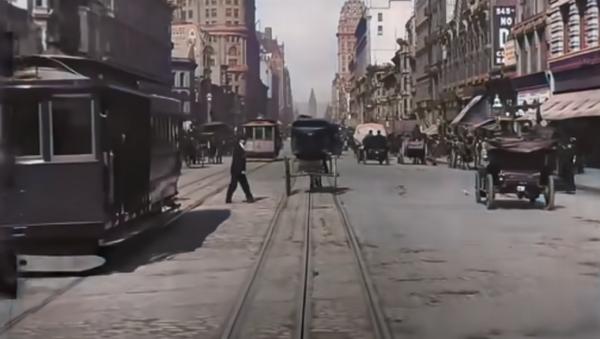 San Francisco nel 1906, in  4K - Sputnik Italia