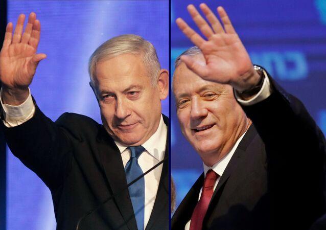 Benjamin Netanyahu e Benny Gantz