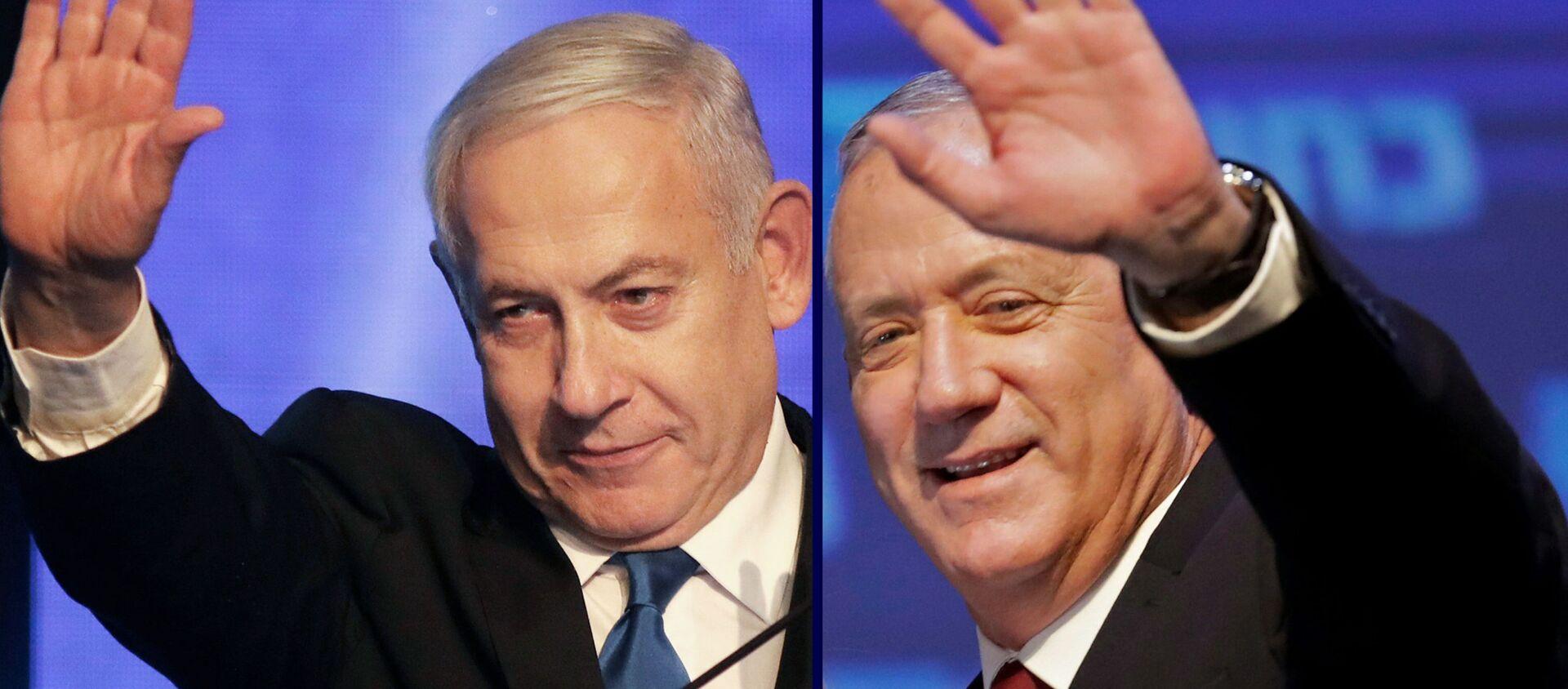 Benjamin Netanyahu e Benny Gantz - Sputnik Italia, 1920, 07.05.2020