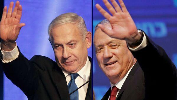 Benjamin Netanyahu e Benny Gantz - Sputnik Italia
