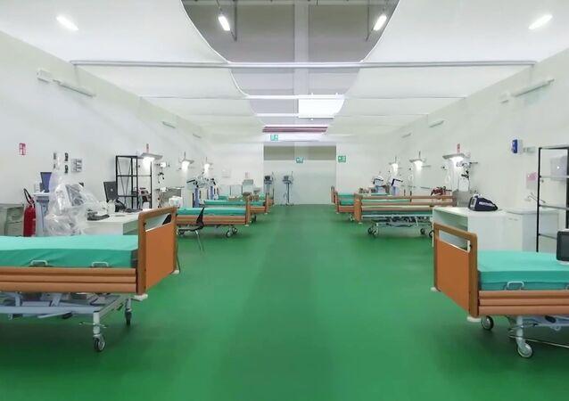 L'ospedale da campo a Bergamo