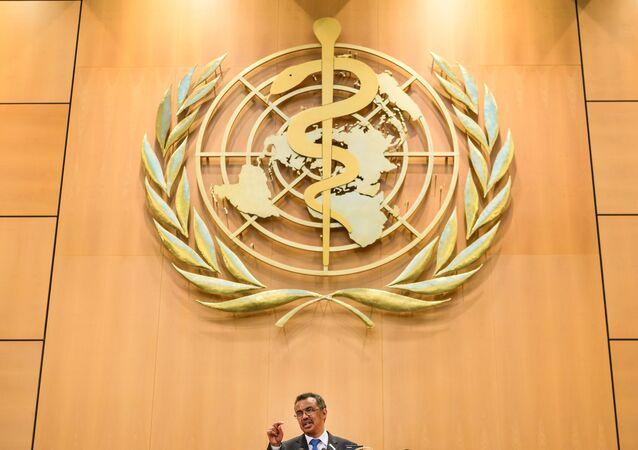 Tedros Adhanom Ghebreyesus durante un discorso a Genova (Oms)
