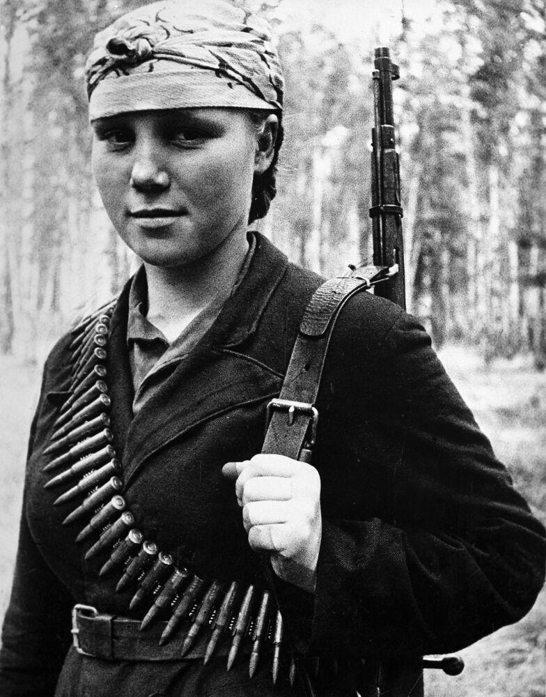 Un'infermiera di un'unità partigiana, Lida Ferapont.