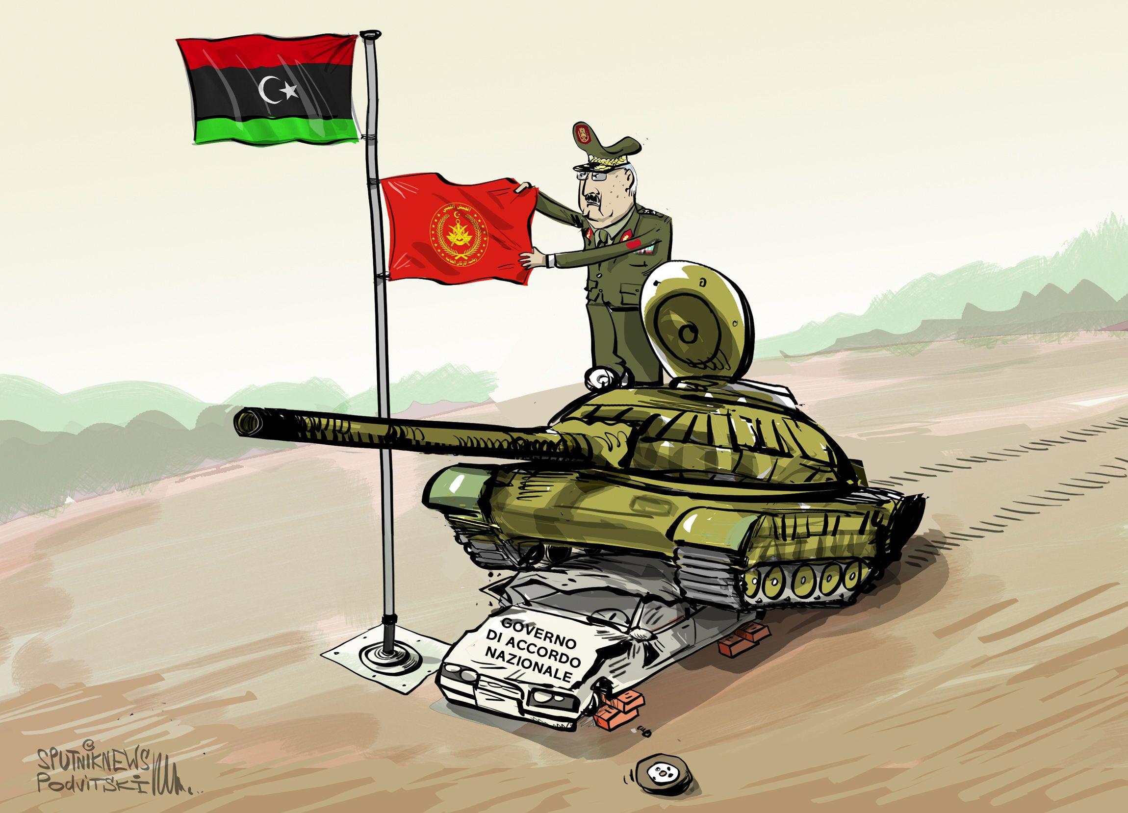 Il maresciallo libico Khalifa Haftar ha reso noto che l'Esercito Nazionale Libico (LNA) avrebbe preso il controllo del Paese