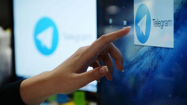 L'applicazione di messaggistica  Telegram su uno schermo - Sputnik Italia
