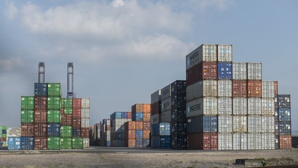 Containers of import and export trade at the Lazaro Cardenas port, one of the biggest of the country, in Michoacan state, Mexico on December 02, 2013. - Sputnik Italia