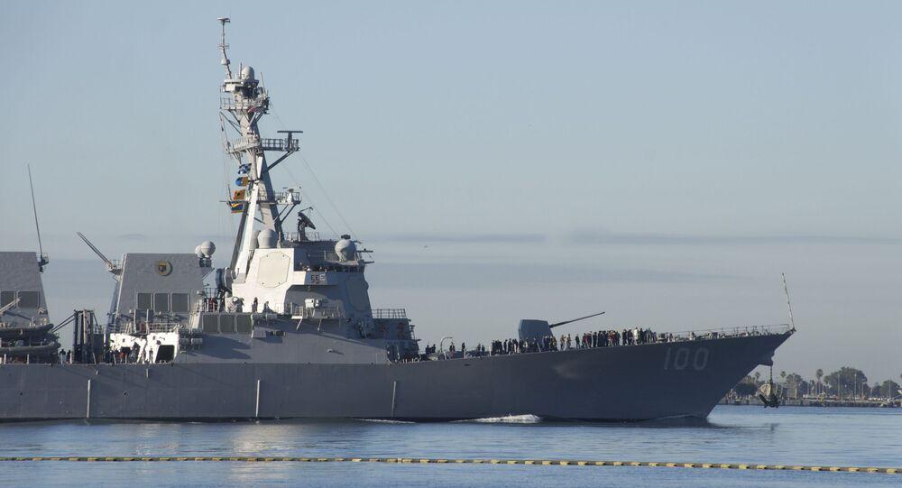 Il cacciatorpediniere missilistico Kidd della marina degli USA