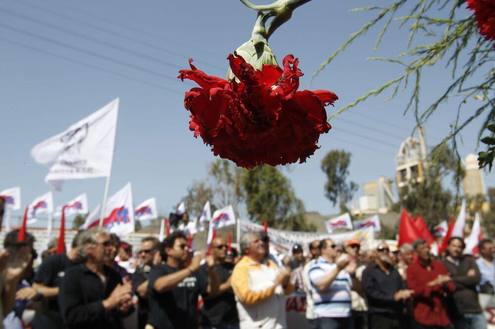 Una manifestazione di primo maggio ad Atene, Grecia, 2012.
