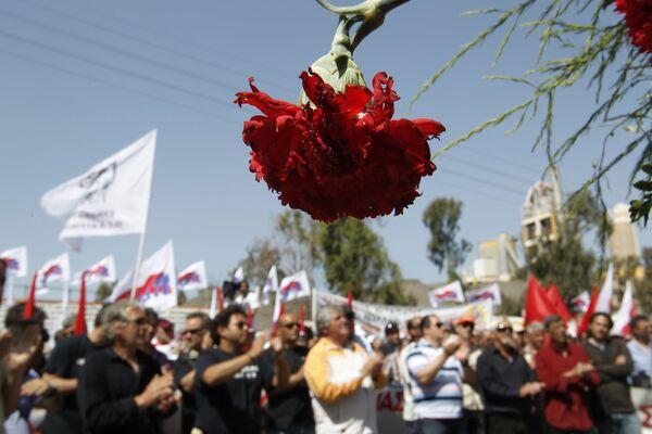Una manifestazione di primo maggio ad Atene, Grecia, 2012. - Sputnik Italia