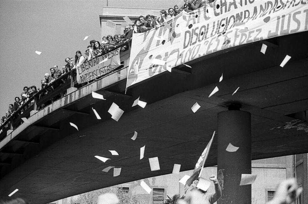 La manifestazione del Primo maggio in Spagna, 1979.