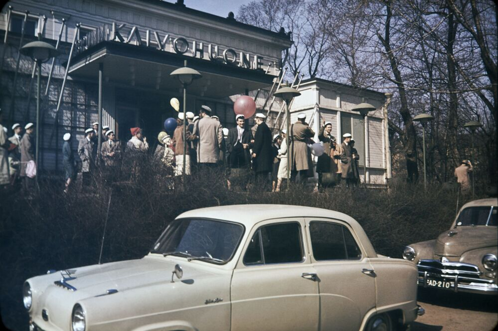 La celebrazione del Vappu del 1° maggio in Finlandia, 1950.