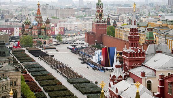 La parata militare per il 66° anniversario della Vittoria sulla Piazza Rossa a Mosca. - Sputnik Italia