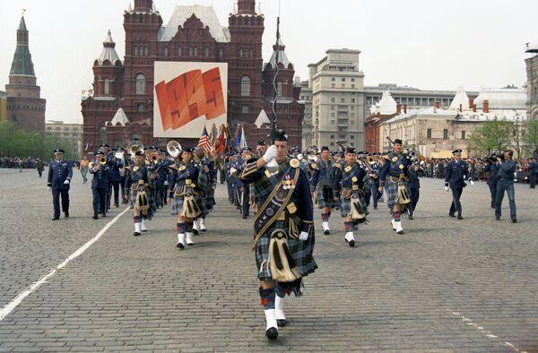 Delle orchestre di diversi paesi hanno partecipato alla Parata della Vittoria mondiale.  - Sputnik Italia