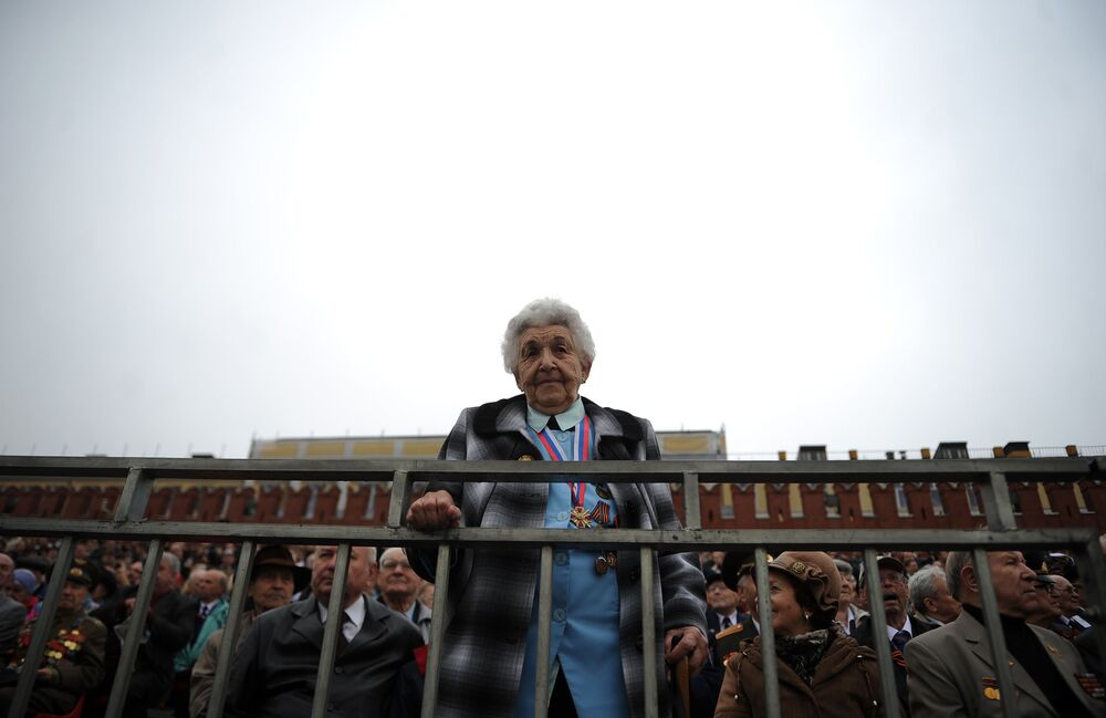 I veterani della Guerra sulla Piazza Rossa per la parata dedicata al 67esimo anniversario della Vittoria nella Seconda Guerra Mondiale.