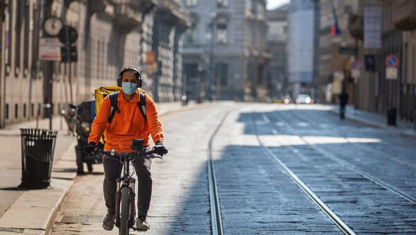 Coronavirus, rider a Milano - Sputnik Italia
