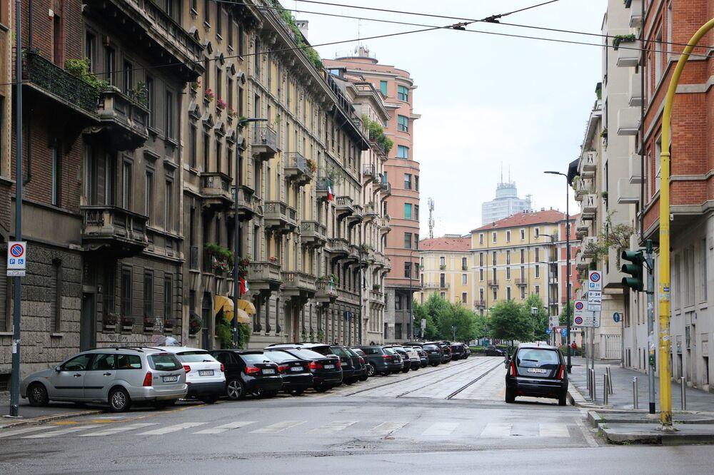 Milano prima dell'inizio della Fase 2, Italia, il 3 maggio 2020