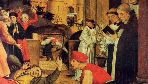 San Sebastiano supplica Cristo per la vita di un becchino afflitto dalla peste  - Sputnik Italia