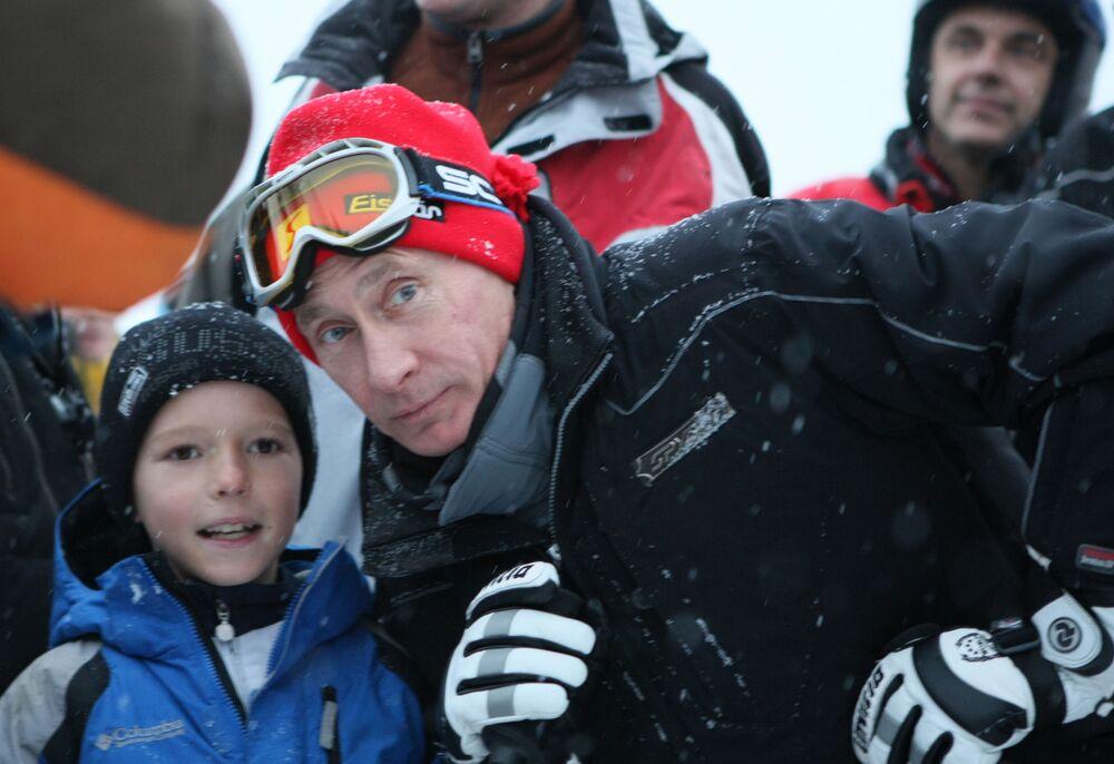 Il primo ministro Vladimir Putin a Sochi, il 4 gennaio 2009.