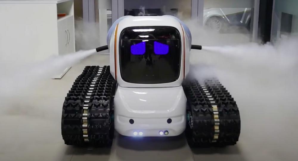Il robottino disinfettante della Avrora Robotics