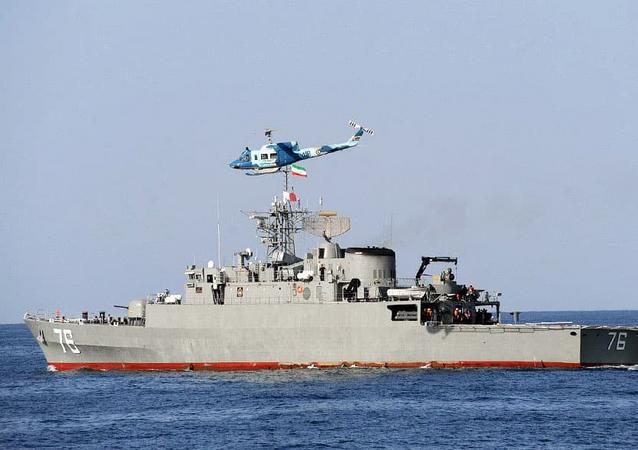 An IRGC Moudge Class frigate