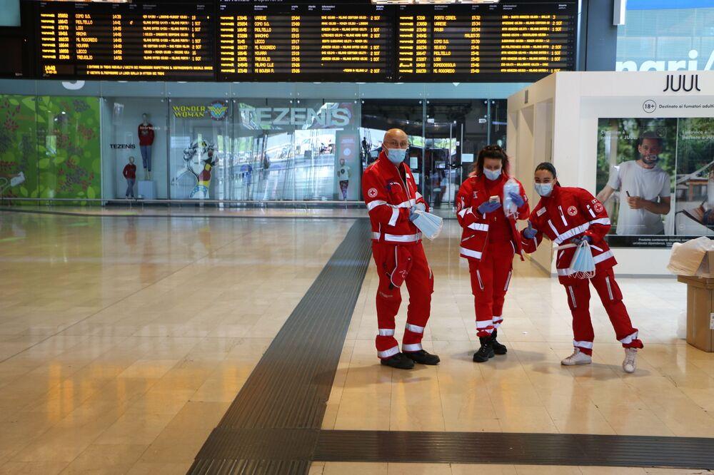 I volontari della Croce Rossa