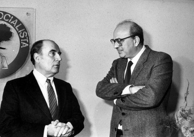 Craxi e il presidente francese François Mitterrand
