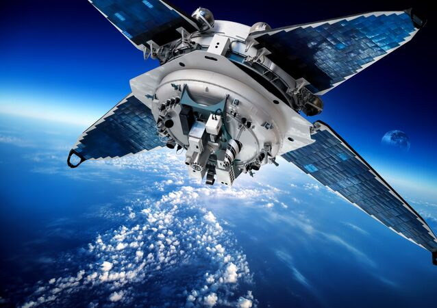 Un satellite spaziale sopra la Terra