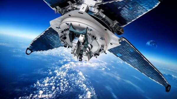 Космический спутник на орите Земли - Sputnik Italia