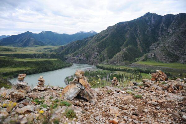 La confluenza dei fiumi Chui e Katun nella Repubblica di Altai. - Sputnik Italia