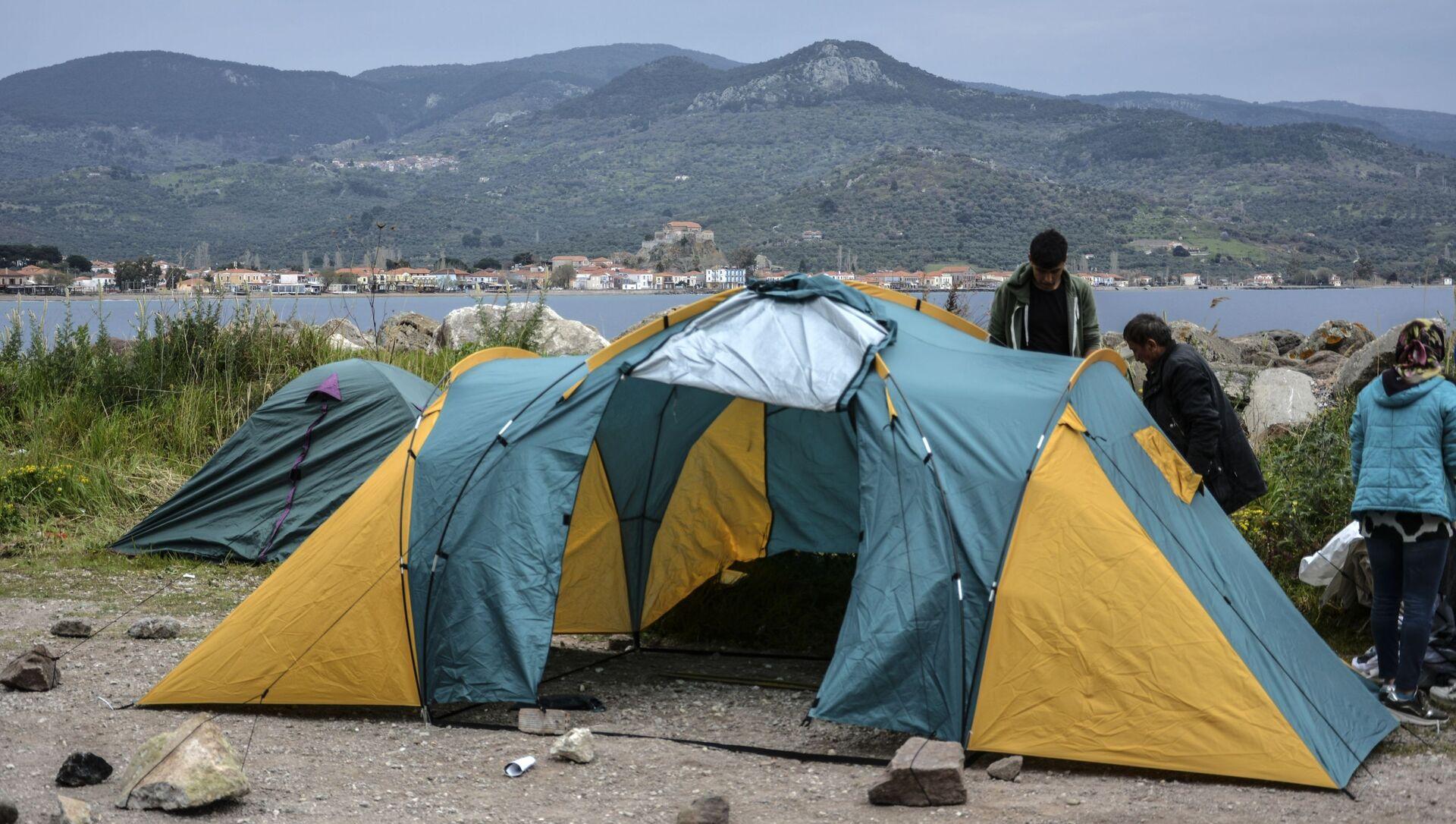 Migranti in Grecia - Sputnik Italia, 1920, 28.03.2021