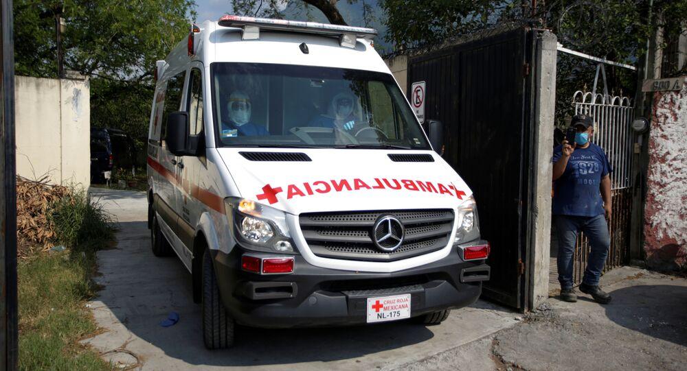 Un'ambulanza in Messico