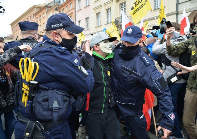 Una manifestazione di imprenditori a Varsavia