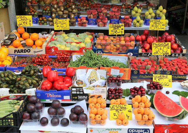 La verdura e la frutta in un negozio a Milano