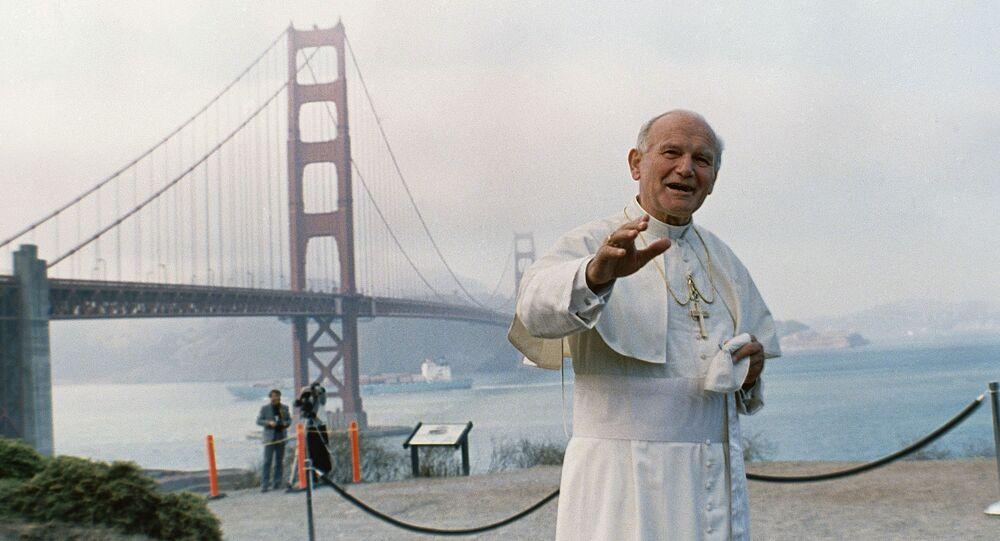 Papa Giovanni Paolo II a San Francisco, nel nord della California, USA, 1987