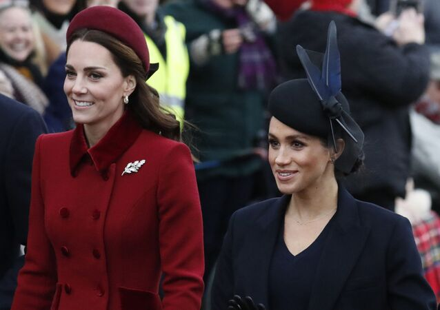 Duchessa di Cambridge Kate e Duchessa del Sussex Meghan (foto d'archivio)