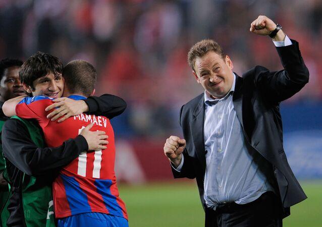 El técnico del club de fútbol CSKA de Moscú, Leonid Slutski