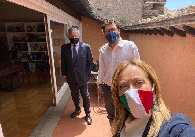 Giorgia Meloni, Matteo Salvini e Antonio Tajani