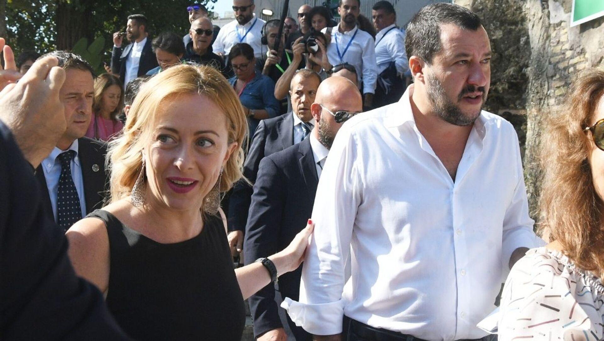 Giorgia Meloni e Matteo Salvini - Sputnik Italia, 1920, 07.05.2021
