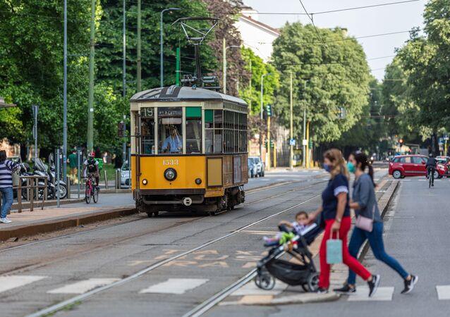 Un tram a Milano