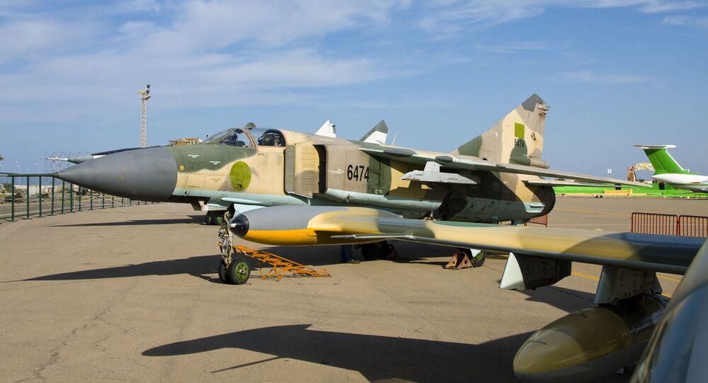 Caccia libico MiG-23MS (foto d'archivio)