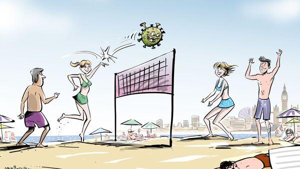 Britannici in spiaggia contro il coronavirus - Sputnik Italia