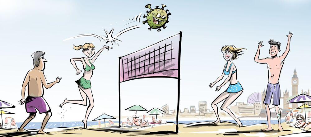 Britannici in spiaggia contro il coronavirus