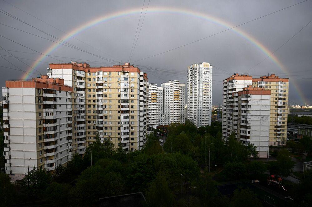 Un arcobaleno a Mosca.