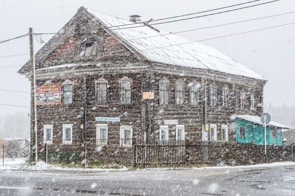 Una nevicata in Carelia, Russia. - Sputnik Italia